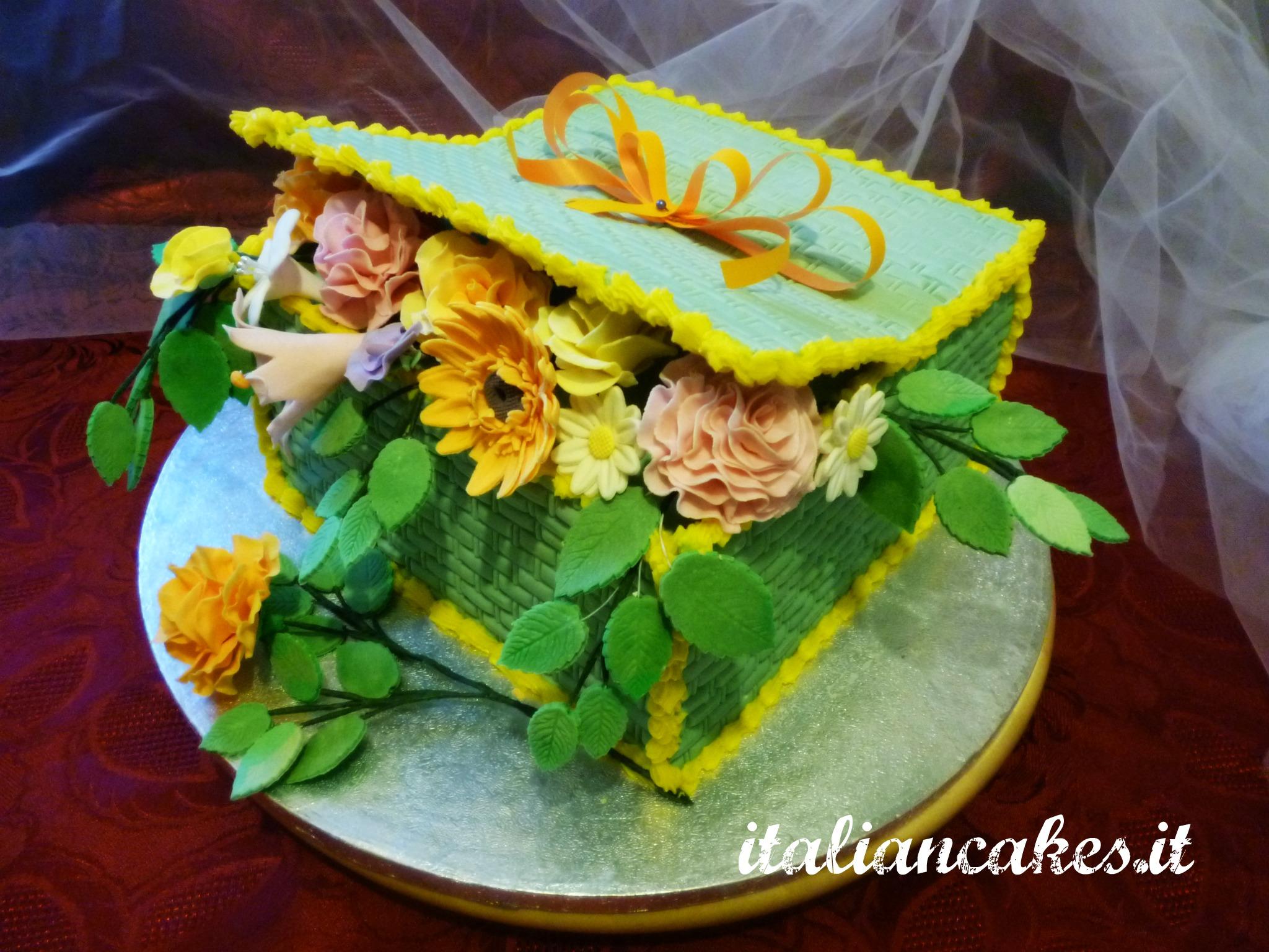 Gumpaste Flower Basket Pictures 17