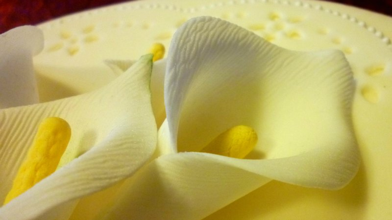 Flowers calla in sugar paste