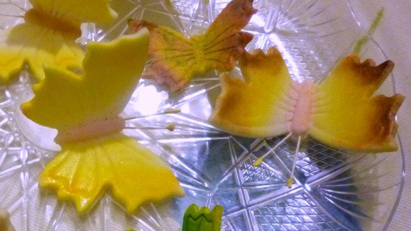 Sugar paste butterflies