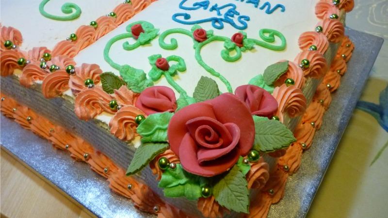 Book birthday cake