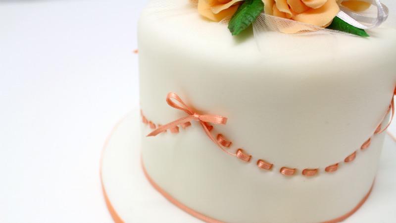 Birthday cake with ribboninsertion